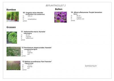 beplantingslijst 2